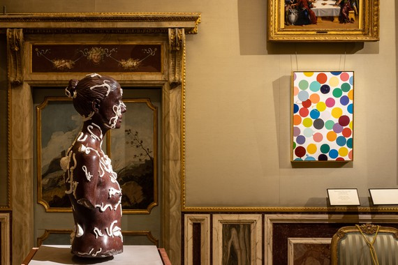 Installation view, Damien Hirst: Archaeology Now, Galleria Borghese, Rome, June 8–November 7, 2021. Artwork © Damien Hirst and Science Ltd. All rights reserved DACS 2021/SIAE 2021. Photo: A. Novelli © Galleria Borghese-Ministero della Cultura