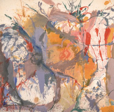 Helen Frankenthaler, Before the Caves, 1958, University of California, Berkeley Art Museum and Pacific Film Archive © 2021 Helen Frankenthaler Foundation, Inc./Artists Rights Society (ARS), New York. Photo: Sibila Savage
