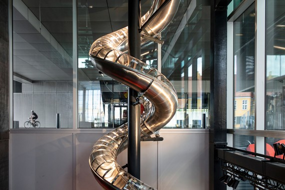 Carsten Höller, DAC Slide, 2020 (detail), installation view, Danish Architecture Center, Copenhagen © Carsten Höller. Photo: courtesy the artist and Ny Carlsbergfondet