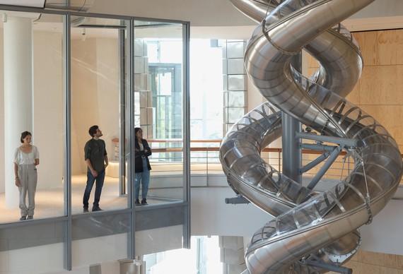 Carsten Höller, Isometric Slides, 2021 (detail), installation view, TheTower, Luma Arles, France © Carsten Höller. Photo: Mark Domage