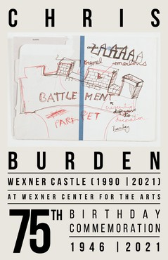 Poster to commemorate Chris Burden's seventy-fifth birthday