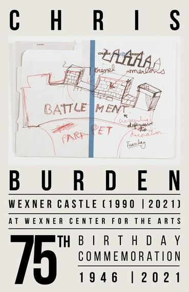 Poster to commemorate Chris Burden's seventy-fifth birthday