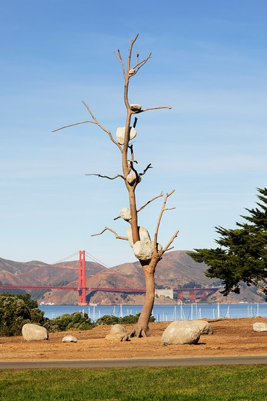Giuseppe Penone, Idee di pietra (Ideas of Stone), 2004, installation view, Fort Mason, San Francisco, 2019–2021 © Giuseppe Penone/2021 Artists Rights Society (ARS), New York/ADAGP, Paris. Photo: Matthew Millman
