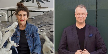 Left: Nancy Rubins. Photo: Joel Searles. Right: Eric Shiner. Photo: Walker Olesen
