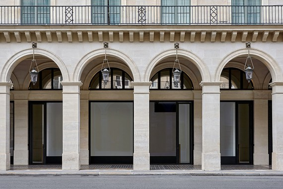 The exterior of Gagosian's new gallery at 9 rue de Castiglione, Paris. Photo: Thomas Lannes