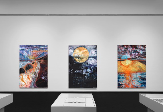 Installation view, Thomas Houseago: Vision Paintings, Royal Museums of Fine Arts of Belgium, Brussels, April 22–August 1, 2021 © Thomas Houseago