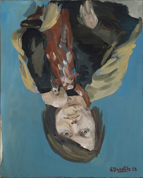 Georg Baselitz, Porträt Elke I(Portrait of Elke I), 1969, Metropolitan Museum of Art, New York, Gift of the Baselitz Family, 2020 © Georg Baselitz. Photo: Jochen Littkemann