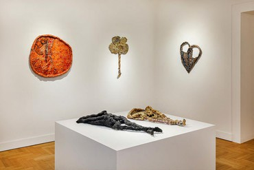 Installation view, Sterling Ruby at Cycladic: Ceramics, Museum of Cycladic Art, Athens, May 14–June 27, 2021. Artwork © Sterling Ruby