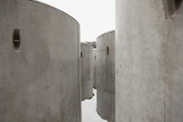 View of Taryn Simon's The Pipes (2016–21) prior to installation at MASS MoCA, North Adams, Massachusetts. Artwork © Taryn Simon. Photo: Will McLaughlin, courtesy MASS MoCA