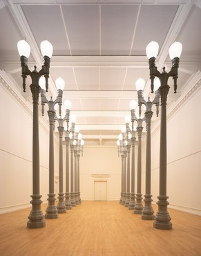 Installation view, Chris Burden: 14 Magnolia Double Lamps, South London Gallery, September 15–November 5, 2006. Artwork © Chris Burden/Licensed by the Chris Burden Estate and Artists Rights Society (ARS), New York. Photo: VIEW Pictures Ltd./Alamy Stock Photo