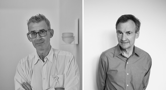 Left: Edmund de Waal. Photo: Tom Jamieson. Right: Richard Calvocoressi. Photo: Miriam Perez