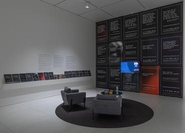 Rick Lowe, Black Wall Street Journey, 2018–, installation view, Smart Museum of Art, University of Chicago, 2021 © Rick Lowe Studio. Photo: Michael Tropea