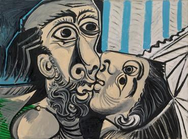 Pablo Picasso, Le Baiser, 1969, Musée national Picasso–Paris © Succession Picasso 2021