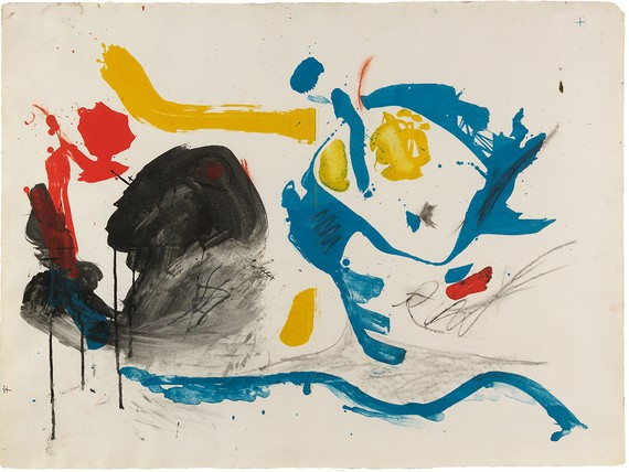 Helen Frankenthaler, First Stone, 1961, working proof 2 © 2018 Helen Frankenthaler Foundation, Inc./Artists Rights Society (ARS), New York/Universal Limited Art Editions (ULAE), West Islip, New York