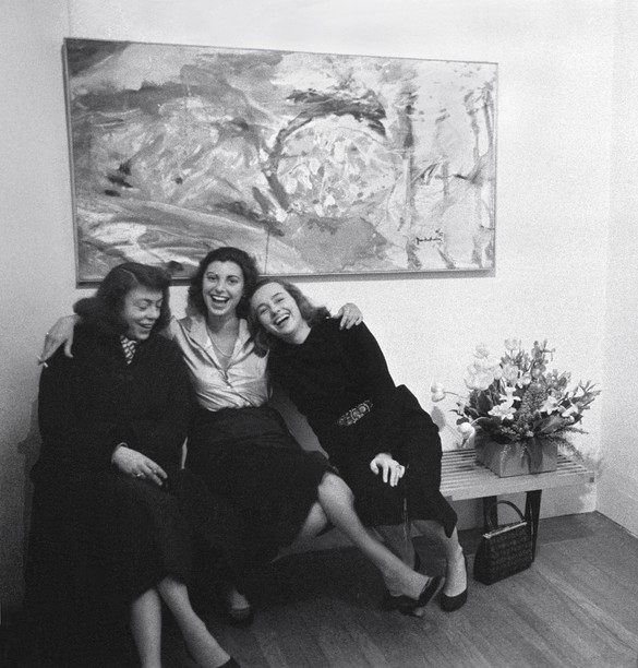 Joan Mitchell, Helen Frankenthaler, and Grace Hartigan at the opening of Frankenthaler's solo exhibition at the Tibor de Nagy Gallery, New York, February 12, 1957. Burt Glinn/Magnum Photos