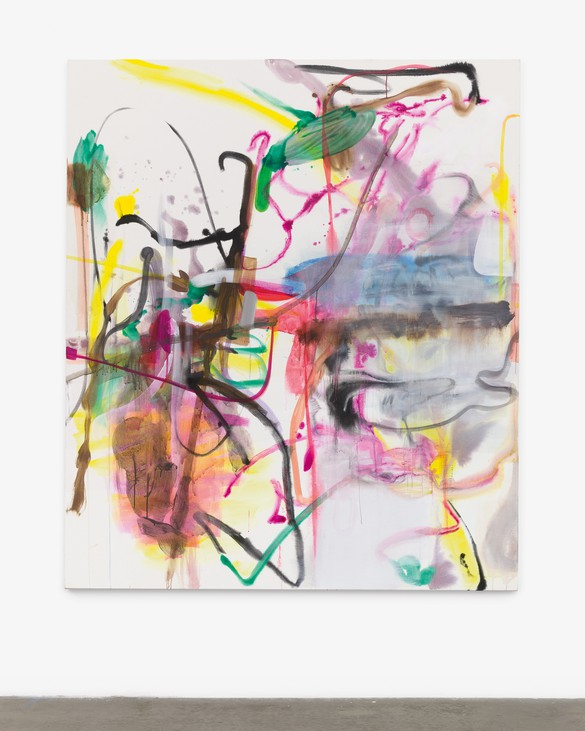 Albert Oehlen, Untitled, 2019, watercolor on canvas, 83 ⅞ × 72 ⅛ inches (213 × 183 cm). Photo: Jeff McLane Studio