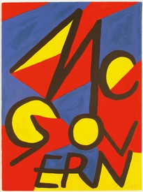 Alexander Calder poster for McGovern, 1972, lithograph