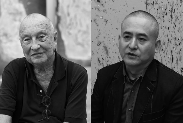 Left: Georg Baselitz. Photo: Martin Müller. Right: Zeng Fanzhi