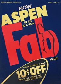 Andy Warhol cover design for the magazine Aspen 1, no. 3.