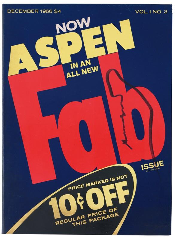 Aspen 1, no. 3 (December 1966). Cover design: Andy Warhol