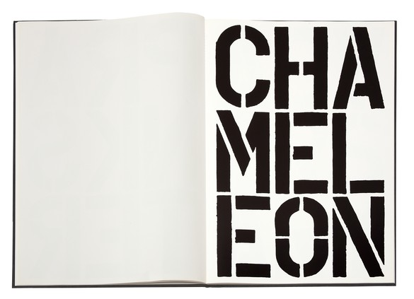 Spread from Christopher Wool's Black Book (1989)