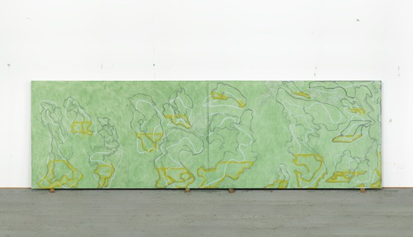 Brice Marden, Untitled (Hydra), 2018, oil on linen, 83 × 270 inches (210.8 × 685.8 cm) © 2018 Brice Marden/Artists Rights Society (ARS), New York