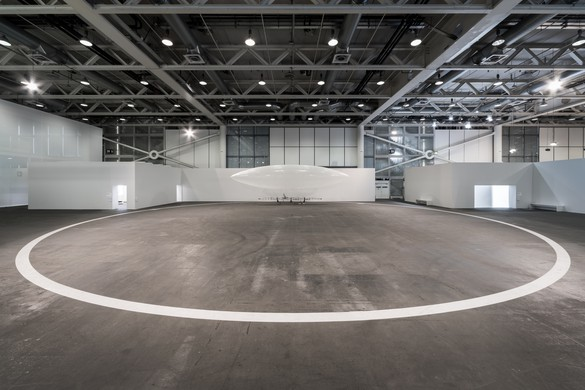 Installation view, Chris Burden: Ode to Santos-Dumont, Art Basel Unlimited, Basel, Switzerland, June 15–18, 2017