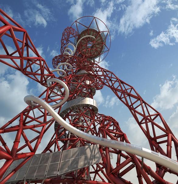 Carsten Höller, The Slide at the ArcelorMittal Orbit © Carsten Höller; Anish Kapoor, ArcelorMittal Orbit © Anish Kapoor. Photo: London Legacy Development Corporation