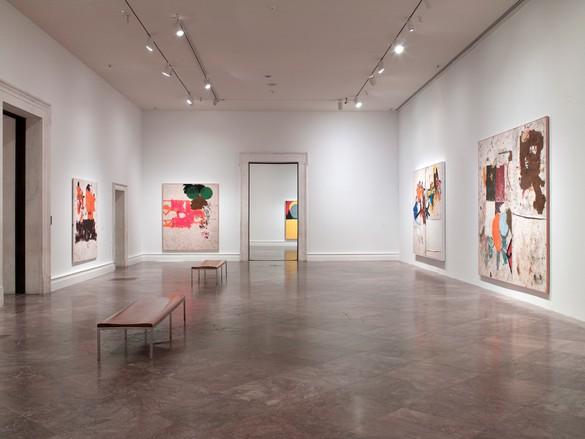 Installation view, Joe Bradley, Albright-Knox Art Gallery, Buffalo, New York, June 24, 2017–October 1, 2017.