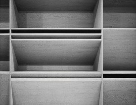 A detail of Donald Judd's 1980 untitled artwork