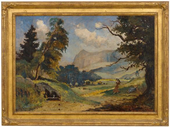 Louis Michel Eilshemius, Fanciful Landscape, 1907, oil on canvas, 30 ¾ × 36 ¼ inches (78.1 × 92.1 cm)