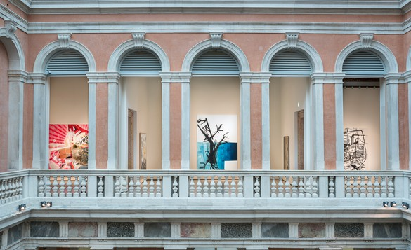 Installation view, Albert Oehlen: Cows by the Water, Palazzo Grassi, Venice, April 8, 2018–January 6, 2019