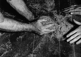 Richard Serra, Hands Scraping, 1968, film still.