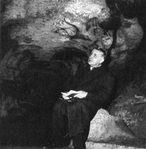 Georges Bataille inspecting the cave paintings at Lascaux