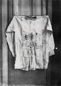 François Aubert, The Shirt of the Emperor, Worn during His Execution, 1867, albumen silver print from glass negative, 8 ¾ × 6 ¼ inches (22.2 × 15.8 cm). Metropolitan Museum of Art, New York, Gilman Collection, Gift of the Howard Gilman Foundation, 2005