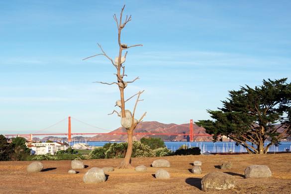 Giuseppe Penone, Idee di pietra (Ideas of Stone), 2004, installation view, Fort Mason, San Francisco, 2019–21