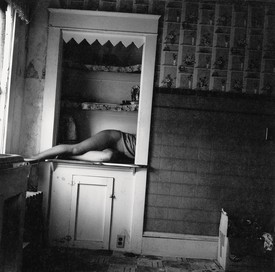 Francesca Woodman, Untitled, Providence, Rhode Island, 1976, gelatin silver print, 5 ¼ × 5 ¼ inches (12.7 × 12.7 cm) © Woodman Family Foundation/Artists Rights Society (ARS), New York