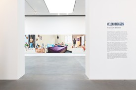 Installation view, Meleko Mokgosi: Democratic Intuition, Gagosian, Britannia Street, London, September 29–December 12, 2020. Artwork
