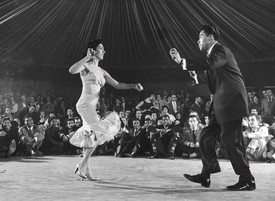 Cuban dancers at the Palladium Ballroom, New York, 1954.