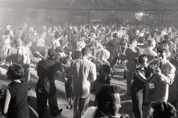 Couples dancing the mambo at the Palladium Ballroom, New York, 1954