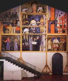 Diego Rivera, The Making of a Fresco Showing the Building of a City, installation view, San Francisco Art Institute (SFAI)