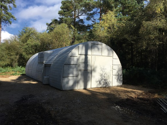 Rachel Whiteread, Nissen Hut, 2018, concrete, 9 feet 10 ⅛ inches × 17 feet ¾ inches × 36 feet 5 inches (3 × 5.2 × 11.1 m)