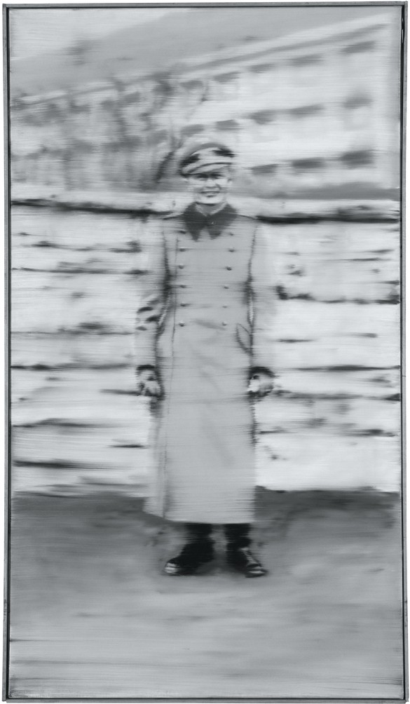 Gerhard Richter, Uncle Rudi, 1965, oil on canvas, 34¼ × 19¾ inches (87 × 50 cm), CR:85