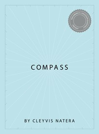 "Light blue title page with ""Compass"" in the center and white line radiating out."