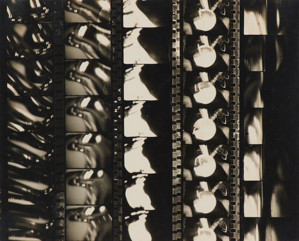 "Man Ray, Film Strips from ""Emak Bakia"", 1926, gelatin silver print, 4 ⅞ × 6 inches (12.4 × 15.1 cm)"