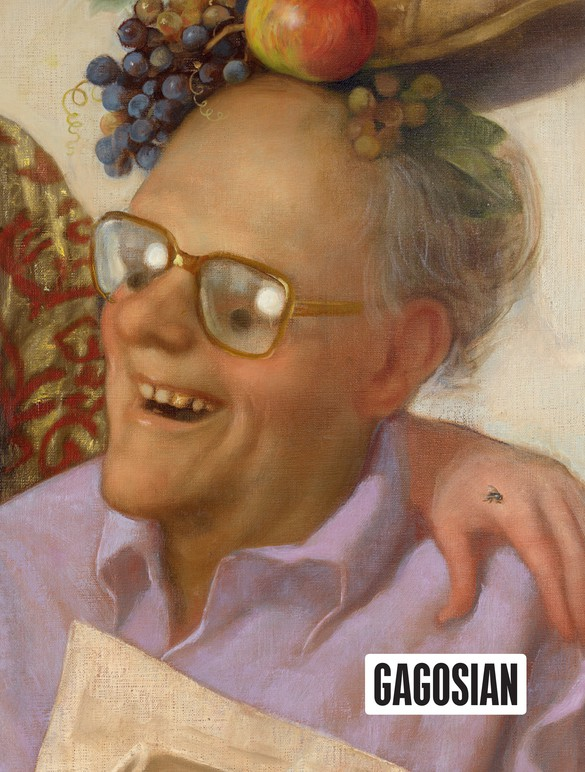 Detail from John Currin's Newspaper Couple (2016) on the cover of Gagosian Quarterly, Fall 2017