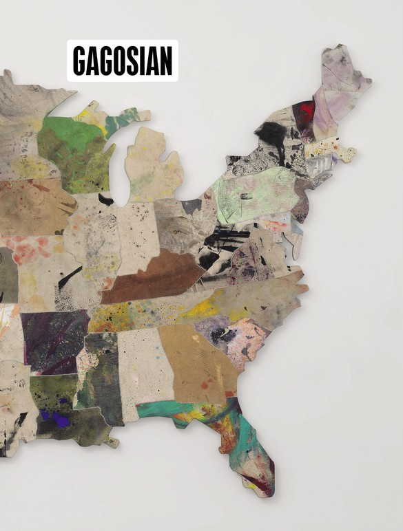 Detail from Nate Lowman's Memory Quilt for a Large Ball (2017) on the cover of Gagosian Quarterly, Fall 2018