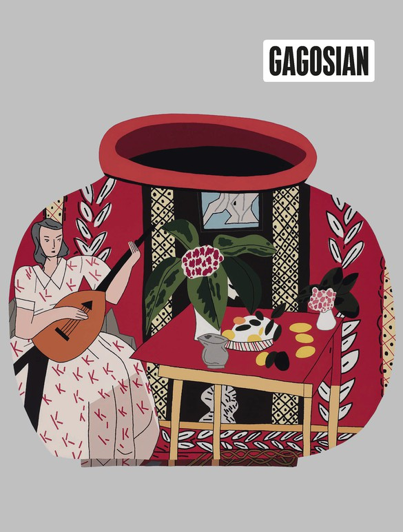 Jonas Wood's Red Pot with Lute Player #2 (2018) on the cover of Gagosian Quarterly, Spring 2019