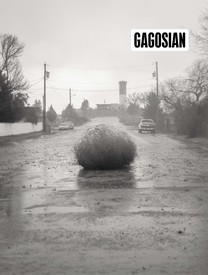 Cover of the Winter 2019 Gagosian Quarterly, featuring a selection from a black-and-white Christopher Wool photograph