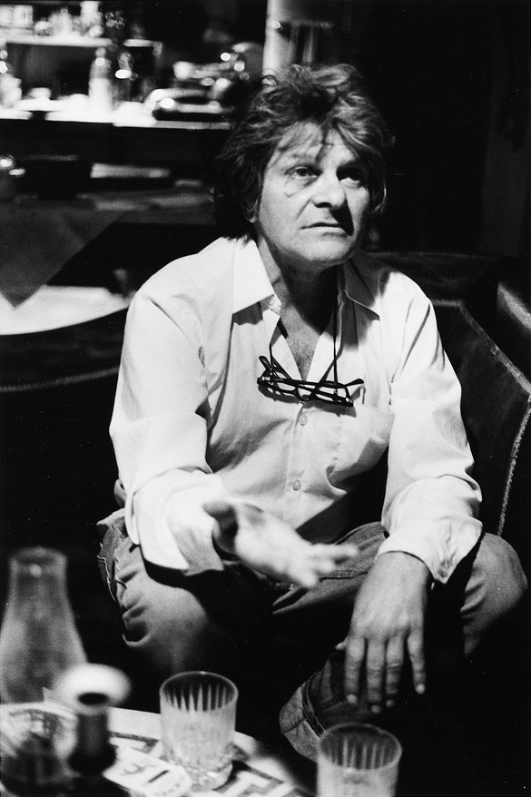Gregory Corso, New York, May3, 1986. Photo: Allen Ginsberg, by permission of the Allen Ginsberg Literary Trust